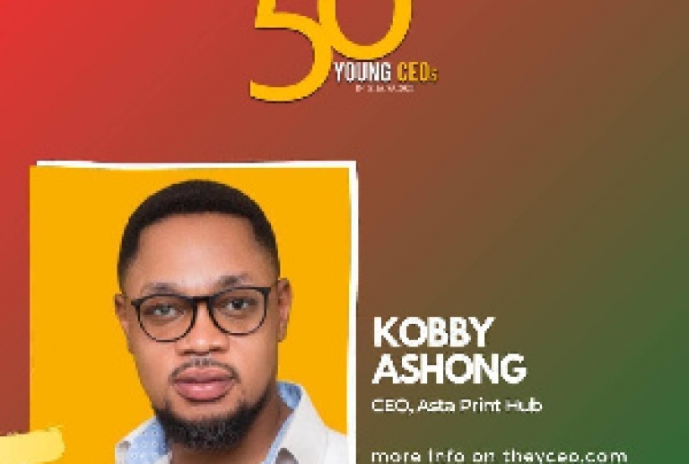 KOBBY ASHONG MAKES SHORTLIST FOR TOP 50 YOUNG CEOS IN GHANA