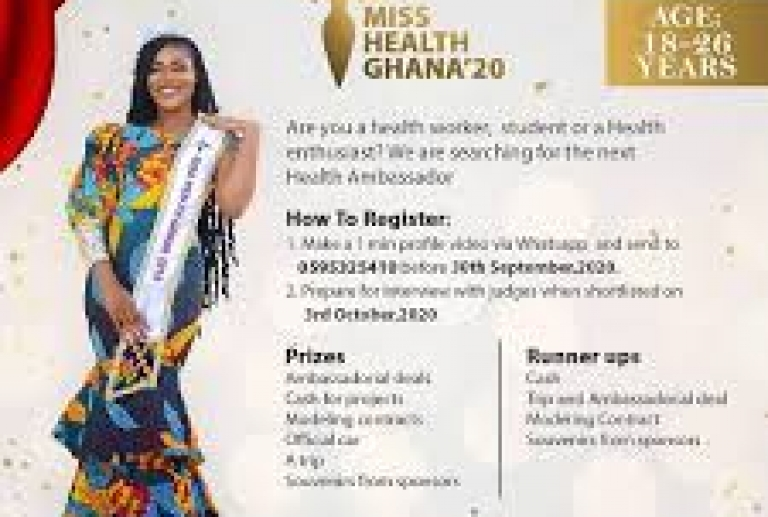 MISS HEALTH GHANA OPEN AUDITIONS FOR HEALTH WORKERS, ENTHUSIASTS, AND STUDENTS